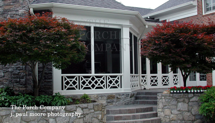 rectangular porch railing balustrade
