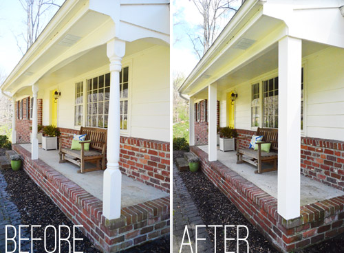 Updating the porch posts made a nice difference Updating Front Porch Posts   Front Porch Columns   Wood Porch Posts. Front Porch Columns Images. Home Design Ideas