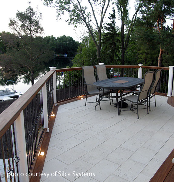 Beautiful Extend your patio material to your deck