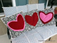 Valentine's Day pillow toppers