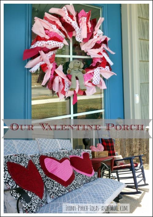 Valentine porch collage