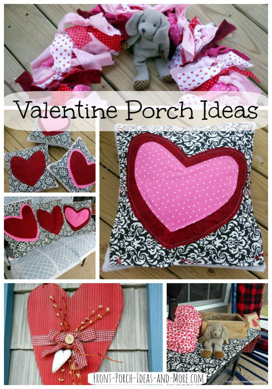 Valentine porch collage