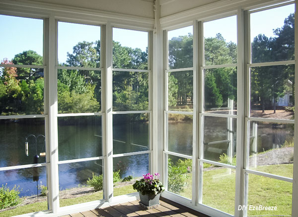 vertical 4-track sunroom windows by EzeBreeze windows