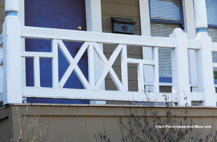 vertical porch railing design