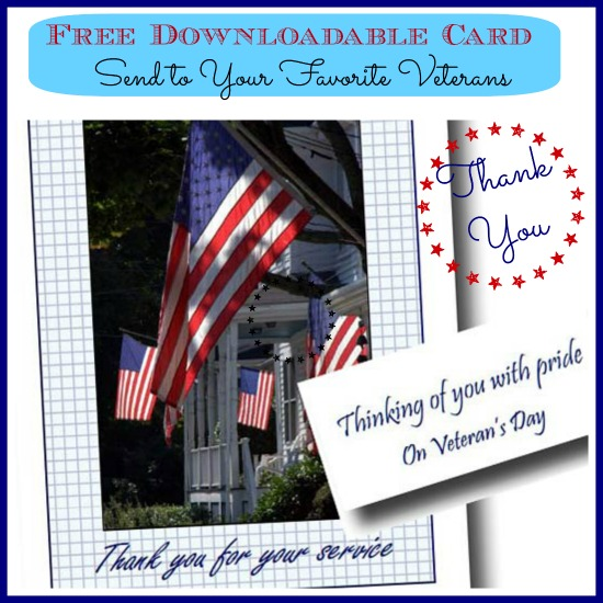 Download a free card to thank a Veteran. Nice way to say thanks.