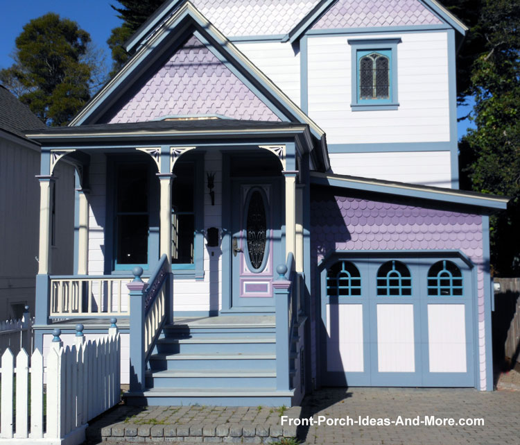 Pacific Grove front porch vibrantly colored