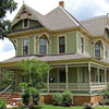 typical Victorian home and expansive front porch