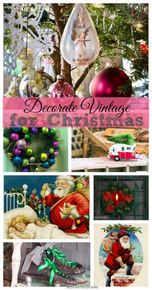 vintage christmas decorating ideas shared on front porch ideas and more