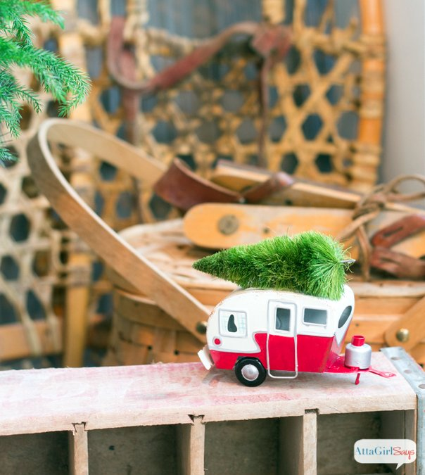 Vintage christmas ornament is a retro trailer - AttaGirl Says Blog