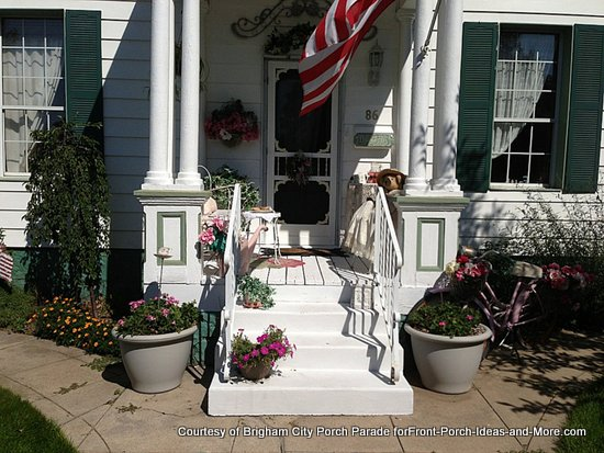 charmingly vintage front porch