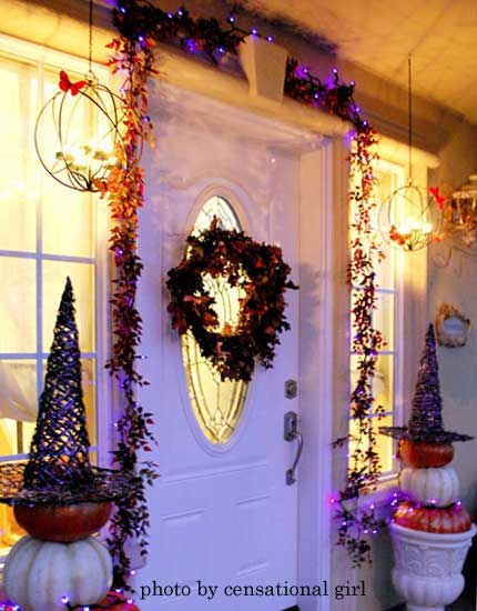 sophisticated Halloween decoration ideas using witch theme