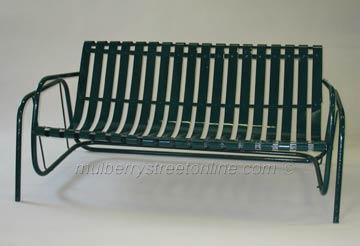 Vintage metal furniture on beautiful porch