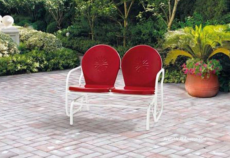 Elegant Mainstays retro porch glider from Amazon