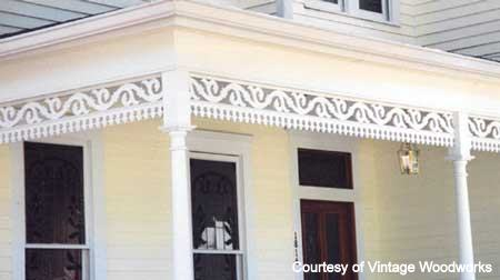 Vintage Porch Parts Exterior House Trim Front Porch Ideas