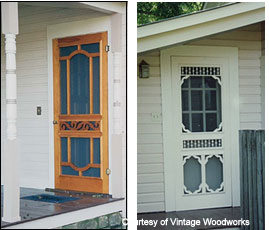 Vintage screen doors by Vintage Woodworks