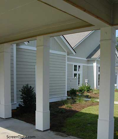 Vinyl porch column front porch columns porch column wraps for Wrap around porch columns