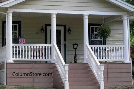 vinyl columns on front porch