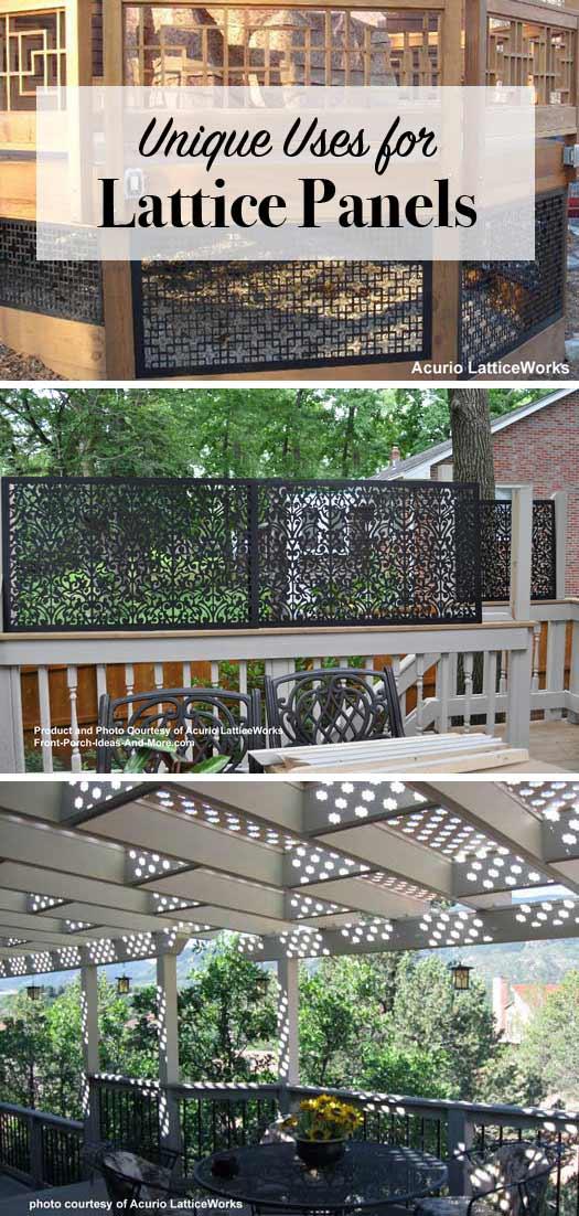 Vinyl lattice panels black lattice panels privacy for Front porch cost estimator
