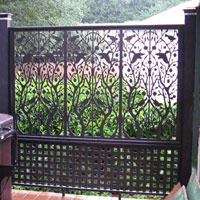 Custom vinyl lattice for your porch