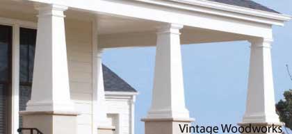 Craftsman Style Cellular PVC Columns. Front Porch Column Wraps ... Part 80