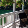 custom designed vinyl porch railings