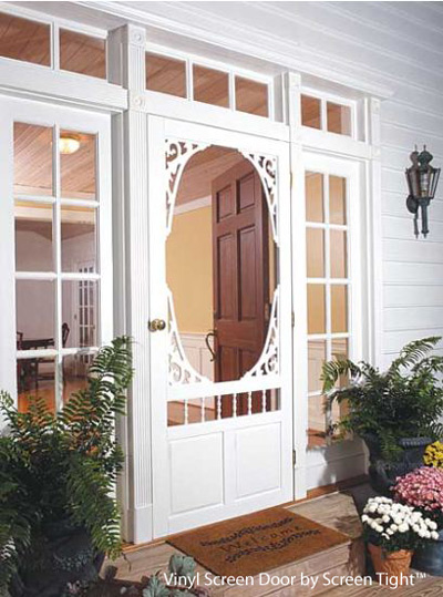 An exterior screen door brings the outside in for Front screen doors