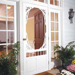 vinyl screen door by screentight