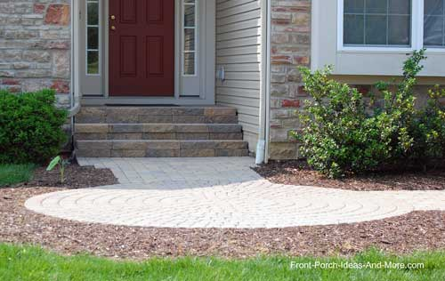 circular addition to traditional walkway - Sidewalk Design Ideas