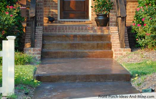 Stained Concrete Walkway Idea Shines In The Sun