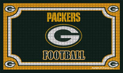 greenbay football door mat
