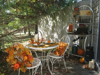 Welcoming Autumn from Our Side Porch!