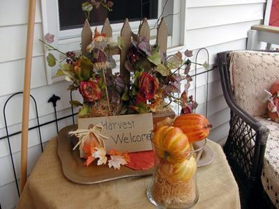 Welcoming Fall and Guests from our Back Porch