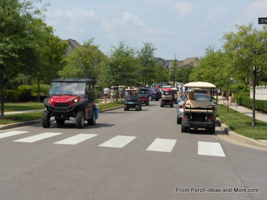 Golf carts for porchfest