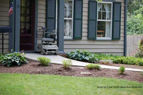Wheelchair ramp design walkway