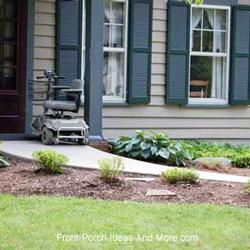 wheelchair ramp design for front porch