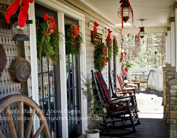 Anita's porch is lovingly known as Whispering Pines