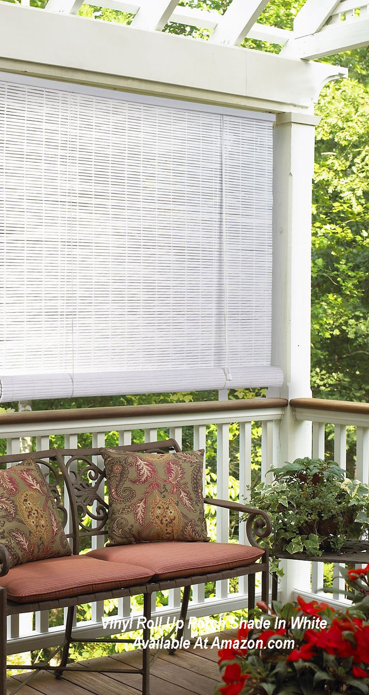 Roll up porch shades for comfort and privacy for Outdoor roll up privacy screens