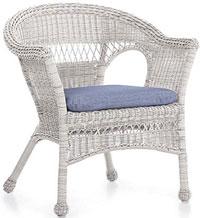 white wicker chair on porch