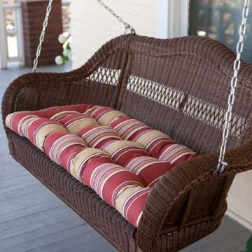 Wicker Porch Swing White Wicker Furniture