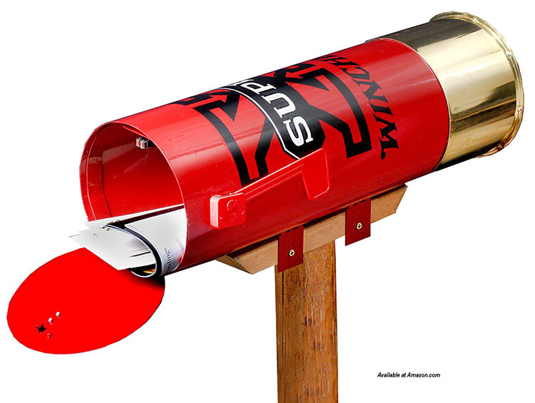 winchester shell casing mailbox from amazon.com