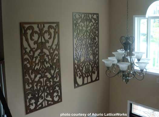panels on interior wall