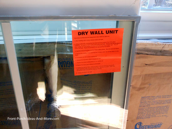 window unit for drywall