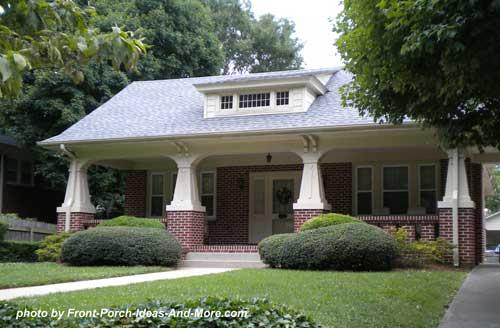 craftsman style porch in Winston Salem