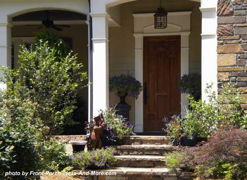 square front porch columns with exterior trim