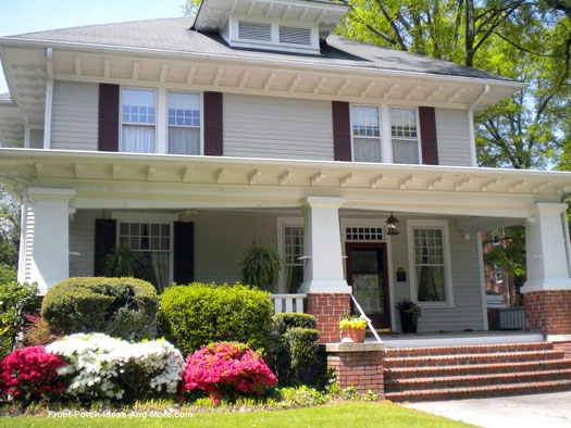 spacious front porch in Winston-Salem, NC