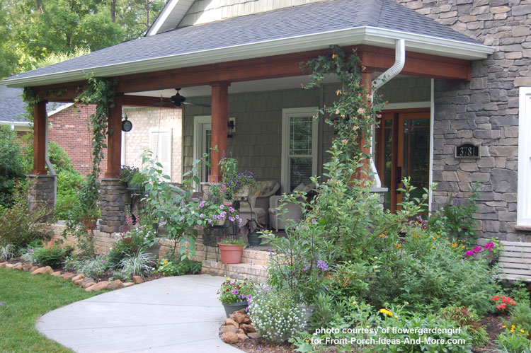 craftsman style front porch in Winston-Salem NC