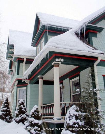 beautiful exterior trim work and porch railings