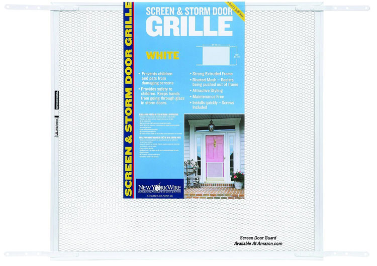 wire mesh Screen Door Grill Example