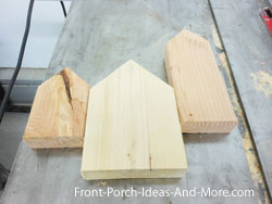 4th of July bird houses cut to length
