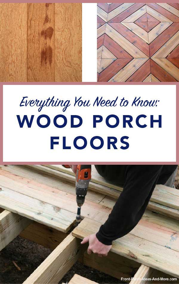 what you need to know about wood porch flooring